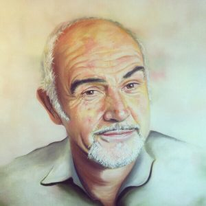 Sean Connery Art by Emily Jarvis